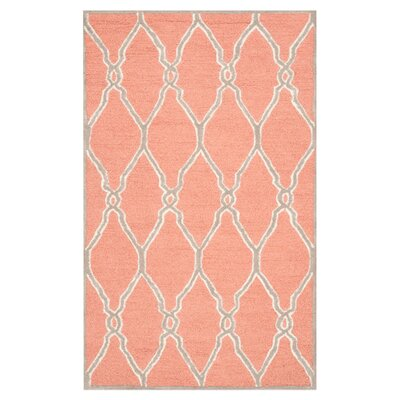 Hagley Hand-Woven Wool Orange/Ivory Area Rug Rug Size: Rectangle 10 x 14