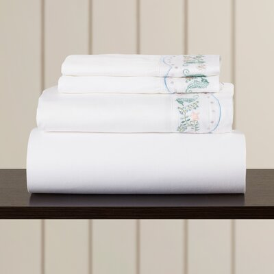 Nathalia Sand Dollar 400 Thread Count Sheet Set Size: Queen