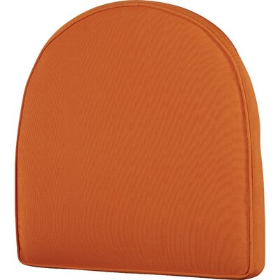 Lounge Outdoor Chair Cushion Color: Orange