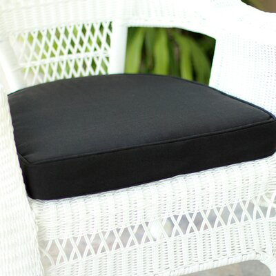 Lounge Outdoor Chair Cushion Color: Black