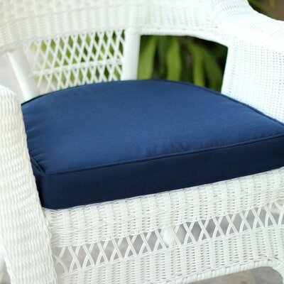 Lounge Outdoor Chair Cushion Color: Blue