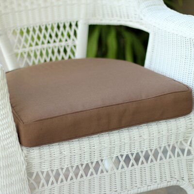 Lounge Outdoor Chair Cushion Color: Brown