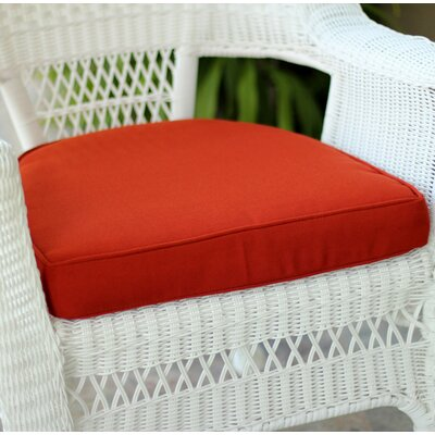 Lounge Outdoor Chair Cushion Color: Red Orange
