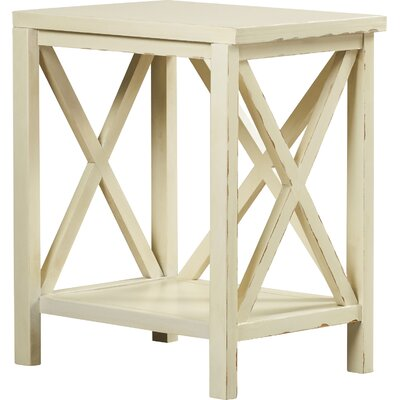 Avalon End Table Color: Vintage Cream
