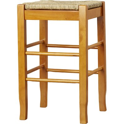 Hogan 24 Bar Stool with Cushion Finish: Oak