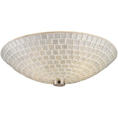 Roehampton 2-Light Semi Flush Mount Shade Color: Silver