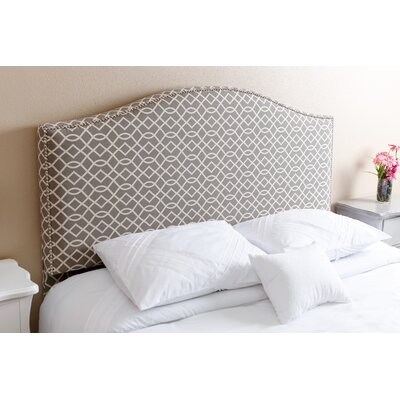 Charis�Gray Upholstered Panel Headboard