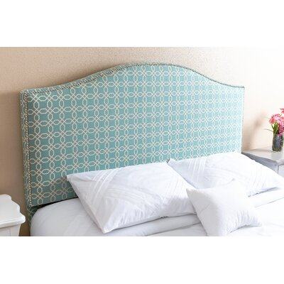 Charis�Turquoise Upholstered Panel Headboard