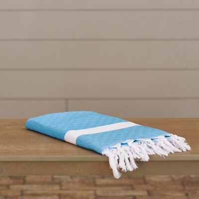 Lauderdale Diamond Weave Beach Towel Color: Turquoise