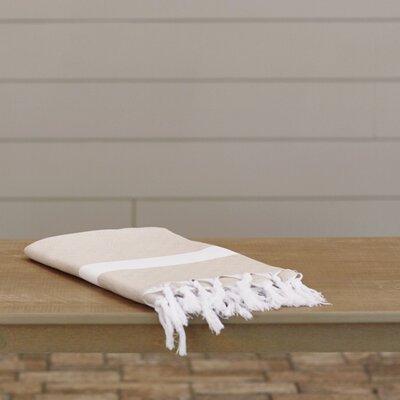 Lauderdale Diamond Weave Beach Towel Color: Beige