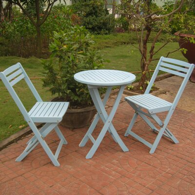 Bristol 3 Piece Bistro Set Finish: Sky Blue