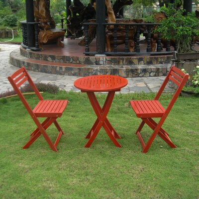 Bristol 3 Piece Bistro Set Finish: Barn Red