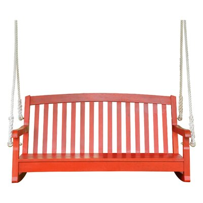 Bristol Hanging Porch Swing Finish: Barn Red