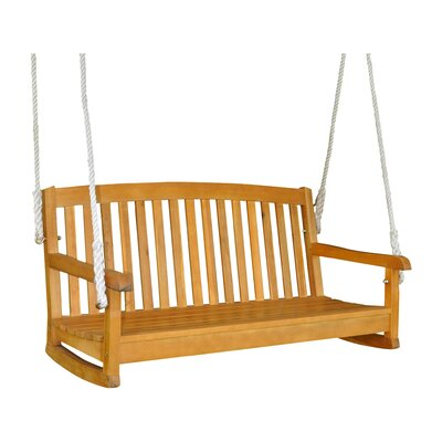 Bristol Hanging Porch Swing Finish: Natural Stain
