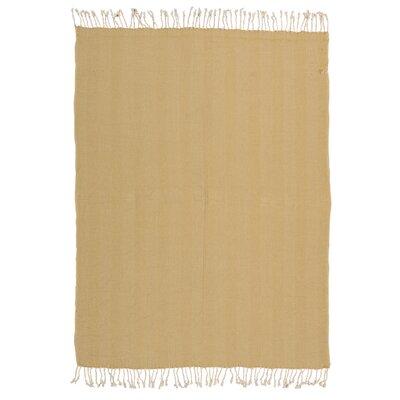 Alachua Cotton Throw Blanket Color: Mustard