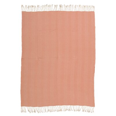 Alachua Cotton Throw Blanket Color: Orange