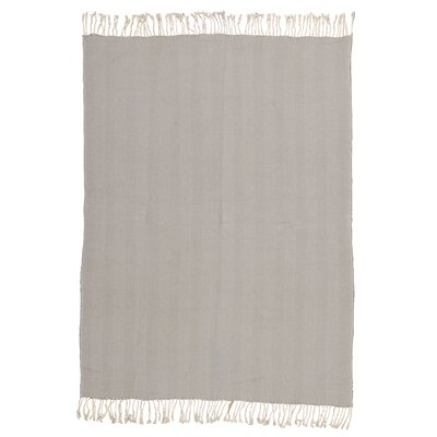 Alachua Cotton Throw Blanket Color: Grey