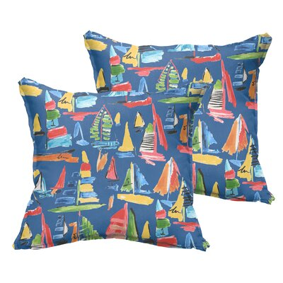 Wallon Indoor/Outdoor Throw Pillow Size: 18 x 18