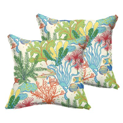 Evadne Outdoor Throw Pillow Size: 20 x 20
