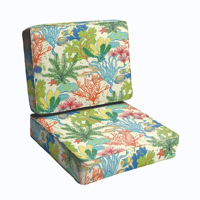 Evadne Corded Edge 2 Piece Outdoor Chair Cushion Set