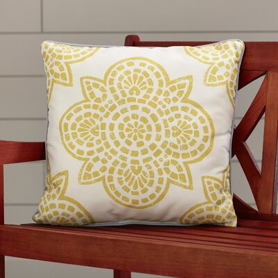 Beechwood Outdoor Throw Pillow Size: 20 H x 20 W, Color: Gold
