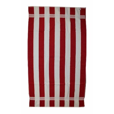 Stripe Beach Towel Color: Red / White