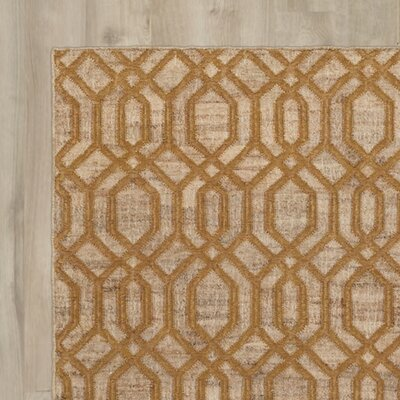 Cheyney Hand Woven Beige/Brown Area Rug Rug Size: Rectangle 5 x 76