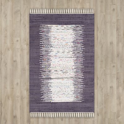Ona Hand-Woven Ivory / Purple Area Rug Rug Size: 6 x 9