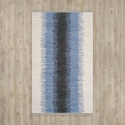 Ona Hand-Woven Grey / Black Area Rug Rug Size: 9 x 12
