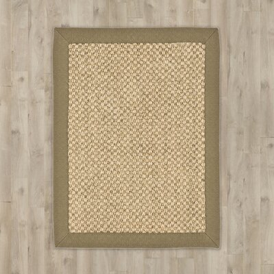Richmond Natural/Green Rug Rug Size: Rectangle 26 x 4