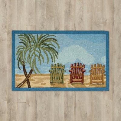 Estelle Beach Chairs Area Rug
