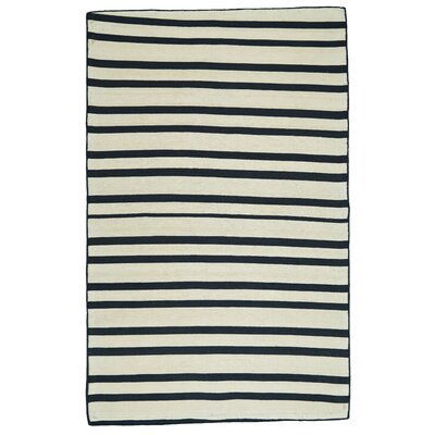 Jolie Hand Loomed Midnight Indoor/Outdoor Area Rug Rug Size: 5 x 8