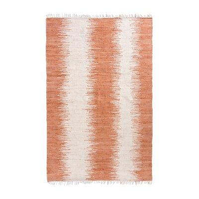 Anchor Lane Hand-Woven Orange Area Rug Rug Size: 26 x 4