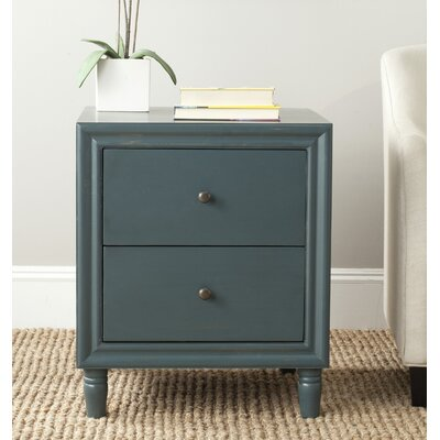 Katalina 2 Drawer Nightstand Color: Steel Teal
