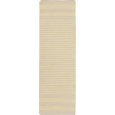 Kinslee Lime/Beige Area Rug Rug Size: Runner 26 x 8