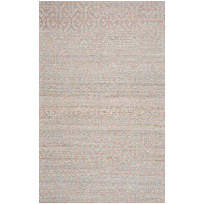 Mutluyaka Blue/Rust Area Rug Rug Size: Rectangle 3 x 5