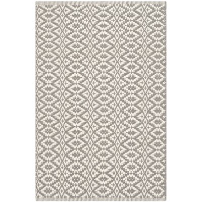 Whobrey Hand Woven Ivory/Gray Area Rug Rug Size: Rectangle 8 x 10