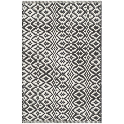 Whyte Hand Woven Ivory/Black Area Rug Rug Size: Rectangle 26 x 4