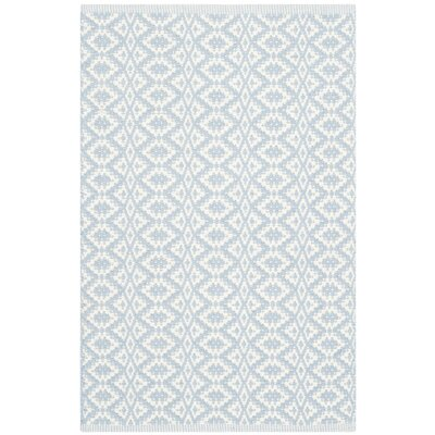 Whorton Hand Woven Ivory/Light Blue Area Rug Rug Size: Rectangle 26 x 4