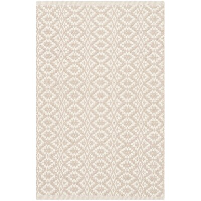 Wick St Lawrence Hand-Woven Cotton Ivory/Beige Area Rug Rug Size: Rectangle 26 x 4