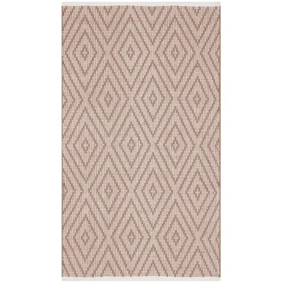 Adelia Hand-Woven Beige/Ivory Area Rug Rug Size: Rectangle 4 x 6