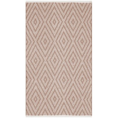Magdalena Hand-Woven Beige/Ivory Area Rug Rug Size: 5 x 8