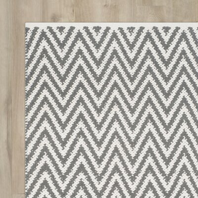 Whitton Hand-Woven Grey/Ivory Area Rug Rug Size: Runner 23 x 9