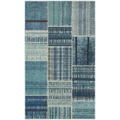Damien Blue Area Rug Rug Size: Rectangle 3 x 5