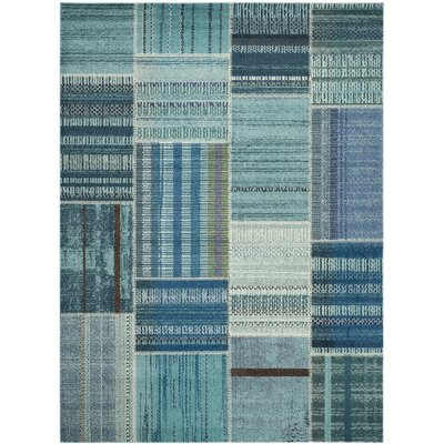 Damien Blue Area Rug Rug Size: Rectangle 8 x 11