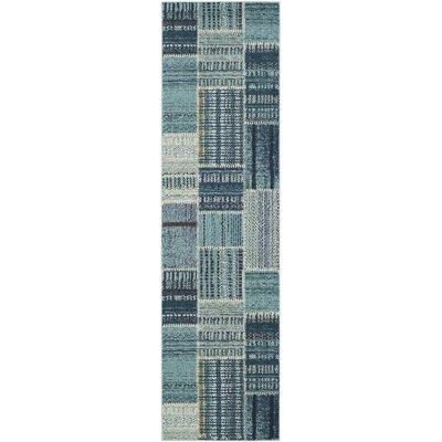 Damien Blue Area Rug Rug Size: Runner 22 x 8