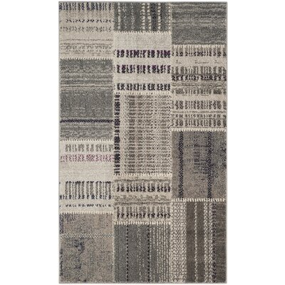Corte Madera Gray Area Rug Rug Size: 67 x 92