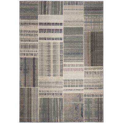 Corte Madera Gray Area Rug Rug Size: 51 x 77