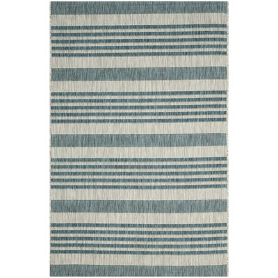 Rosecroft Gray/Blue Indoor/Outdoor Area Rug Rug Size: Runner 27 x 5