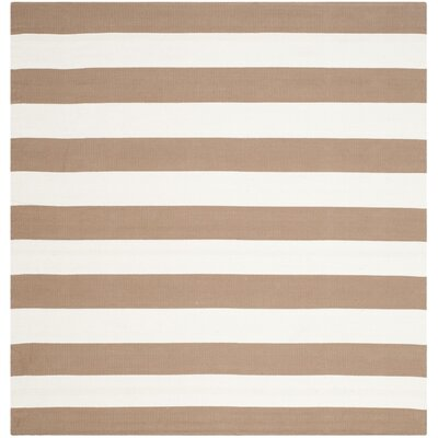 Sky Hand-Woven Sand/Ivory Area Rug Rug Size: Square 6